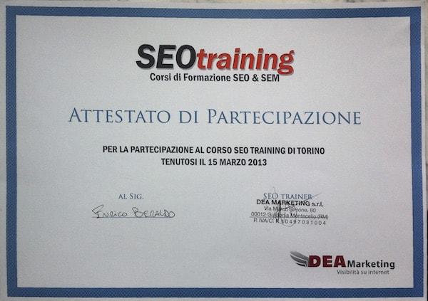 Corso SEO Training